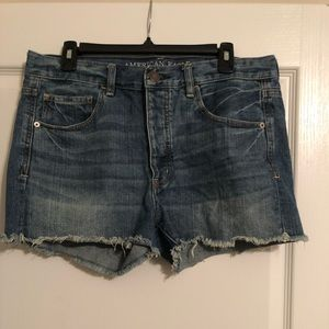 American eagle high waist denim shorts
